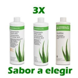 Oferta 3 Concentrado Herbal Aloe Herbalife